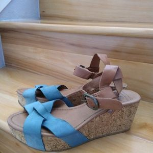 Lucky brand wedge heels size 8.5